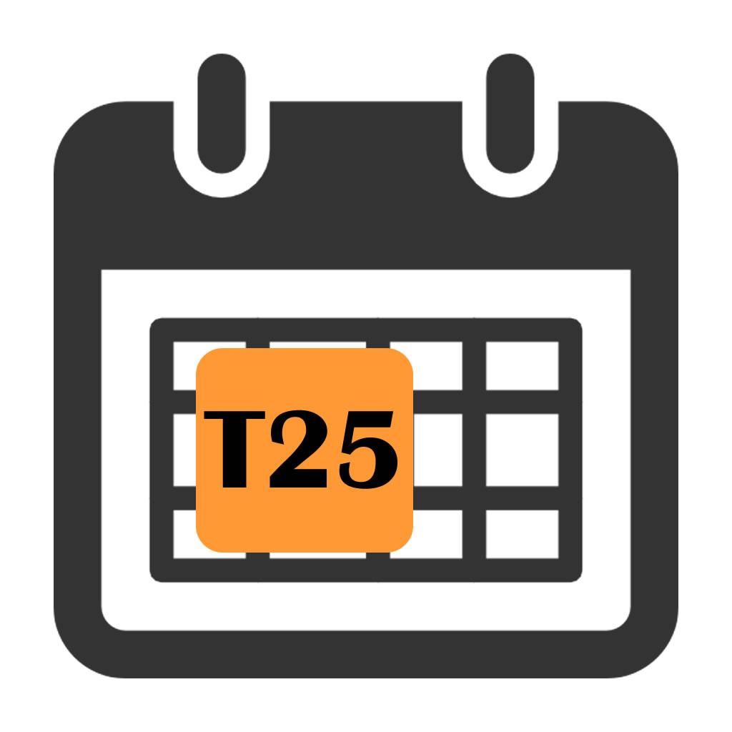 Focus T25 Workout Log
