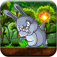 Bunny Jungle Jump & Fire Throw - Jumping Rabbit & Flying Burning Ball Pro